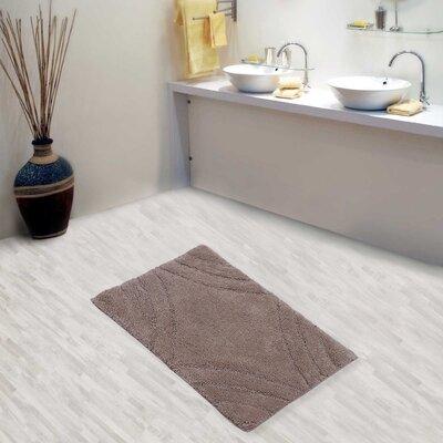 "Barnes Diamond Bath Rug Size: 30"" H X 20"" W, Color: Stone"