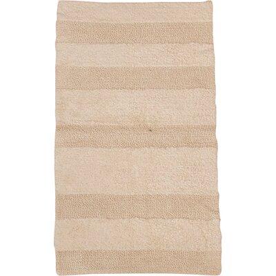 """Verne 100% Cotton Wide Cut Reversible Bath Rug Color: Ivory, Size: 60"""" H X 22"""" W"""