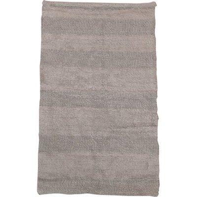 """Verne 100% Cotton Wide Cut Reversible Bath Rug Color: Silver, Size: 24"""" H X 17"""" W"""