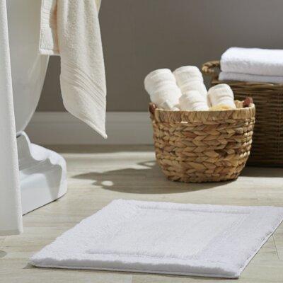 "Clarke Bath Rug Size: 21"" W x 60"" L, Color: White"