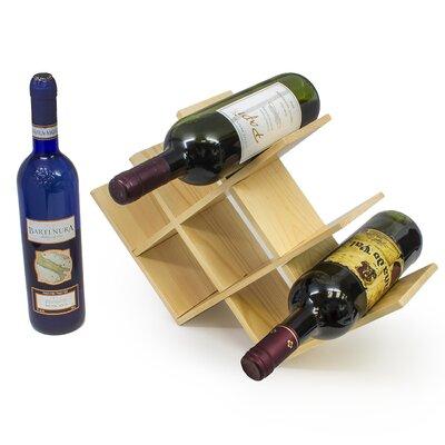 8 Bottle Tabletop Wine Rack Finish: Natural Wood