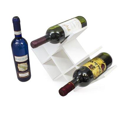 8 Bottle Tabletop Wine Rack Finish: White