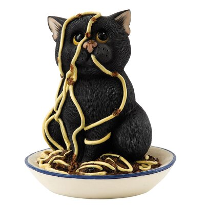 Enesco Comic and Curious Cats Spaghetti Head Figurine
