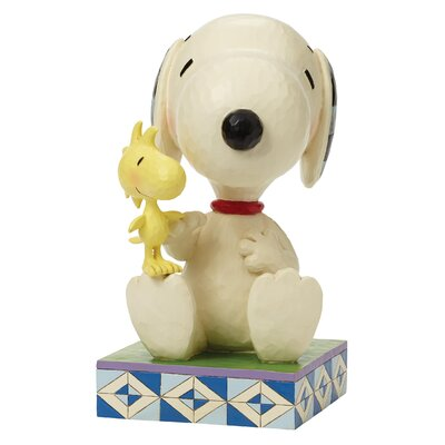 Enesco Peanuts Friendship Comes In All Sizes (Snoopy with Woodstock) Big Figurine
