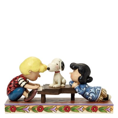 Enesco Peanuts Happiness Is A Favourite Song (Schroeder with Lucy and Snoopy) Figurine