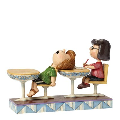 Enesco Peanuts School Days (Marcie and Peppermint Patty) Figurine