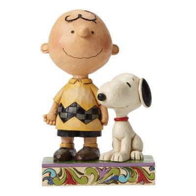 Enesco Peanuts Life Is Better With A Dog (Charlie Brown and Snoopy) Figurine