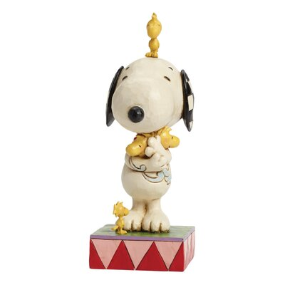 Enesco Peanuts Love Is A Beagle Hug (Snoopy with Woodstocks) Figurine