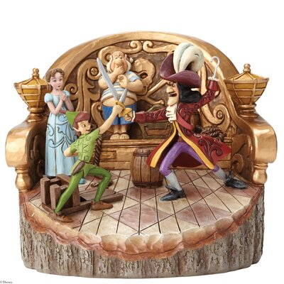 Enesco Disney Traditions Daring Duel (Carved by Heart Peter Pan) Figurine