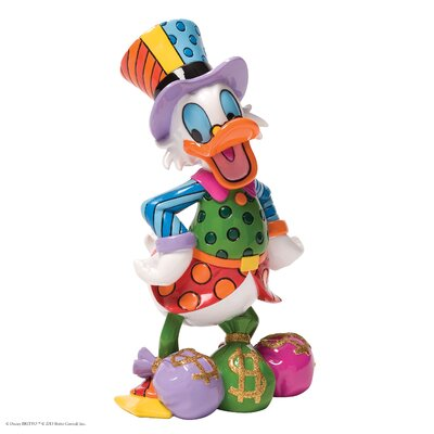 Enesco Disney Britto Uncle Scrooge With Money Bags Figurine