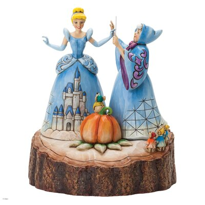 Enesco Disney Traditions Magical Transformation (Carved by Heart Cinderella) Figurine