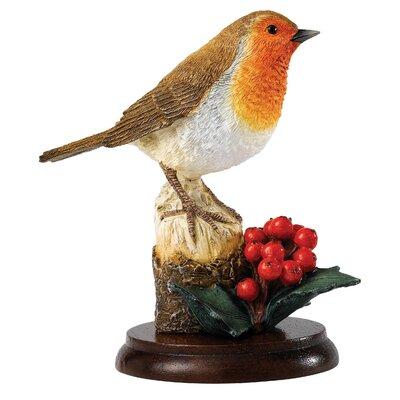 Enesco BFA Studio Robin on Winter Berries Figurine
