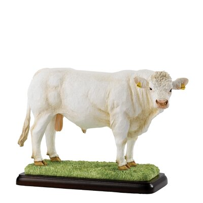 Enesco BFA Studio Charolais Bull Figurine