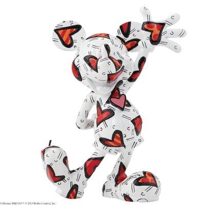Enesco Disney Britto Mickey Wrapped in Hearts Figurine