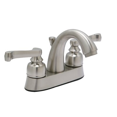 Sienna Centerset Bathroom Faucet with Drain Assembly Finish: Satin Nickel