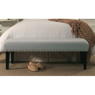 Almeida Upholstered Bench Upholstery Color: Dusty Aqua