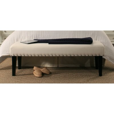 Almeida Upholstered Bench Upholstery Color: Ivory