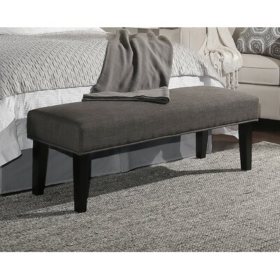 Alongi Upholstered Bench Upholstery Color: Grey