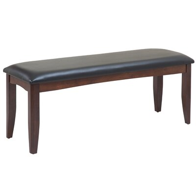 Solid Wood Bench Color: Espresso