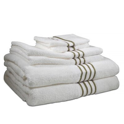 6 Piece 100% Cotton Towel Set Color: Cheteau Grey