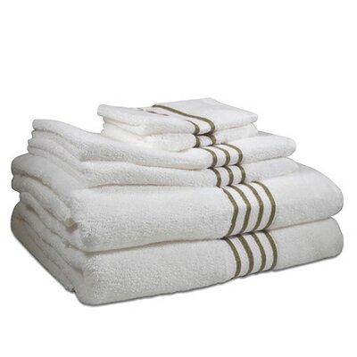 6 Piece 100% Cotton Towel Set Color: Cheteau Grey