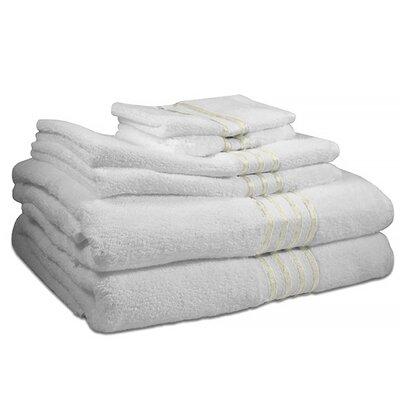 6 Piece 100% Cotton Towel Set Color: Ivory