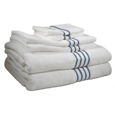 6 Piece 100% Cotton Towel Set Color: Cloud Blue