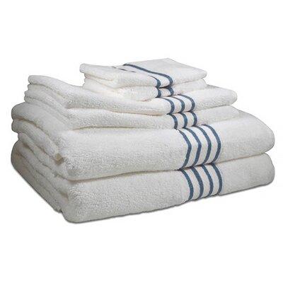 6 Piece 100% Cotton Towel Set Color: Cloud Blue