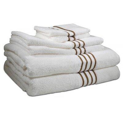 6 Piece 100% Cotton Towel Set Color: Warm Taupe