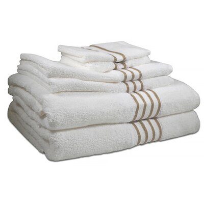 6 Piece 100% Cotton Towel Set Color: Sanddollar