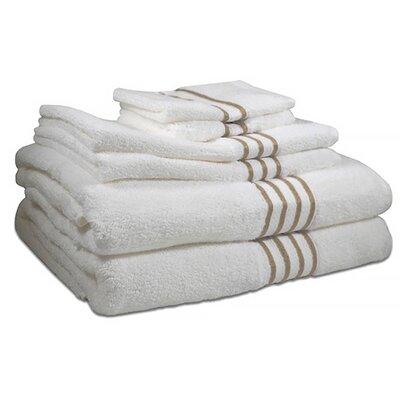 6 Piece 100% Cotton Towel Set Color: Sanddollar