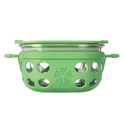 Glass 8 Oz. Food Storage Container Color: Grass Green