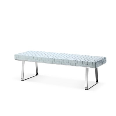 Viva Upholstered Bench Color: White
