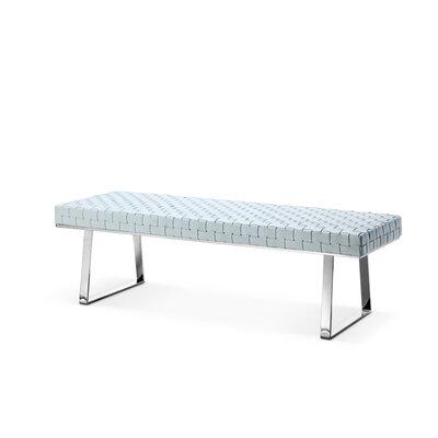 Viva Upholstered Bench Color: White