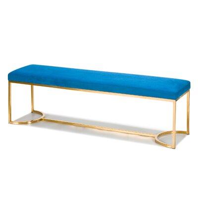 Koda Upholstered Bench Upholstery: Blue