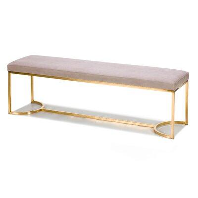 Koda Upholstered Bench Upholstery: Gray