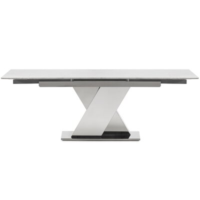 Hyslop Extendable Dining Table Base Color: Light Silver