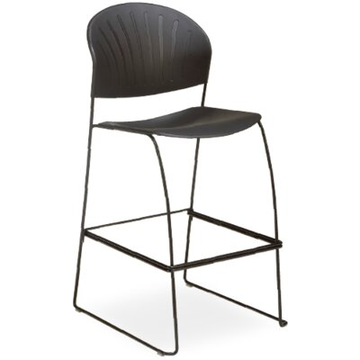 SV Armless Stacking Chair Seat Finish: Wine, Frame Finish: Chrome