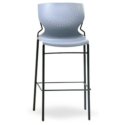 SD Armless Stacking Chair Seat Finish: Onyx, Frame Finish: Black