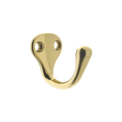 Wall Hook Finish: Polished Brass