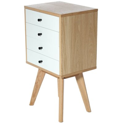 Charles Jacobs Mayfair 4 Drawer Bedside Table