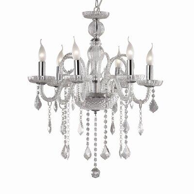 Ideal Lux Giudecca 6 Light CrystalChandelier