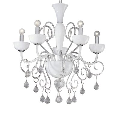 Ideal Lux Lilly 5 Light CrystalChandelier