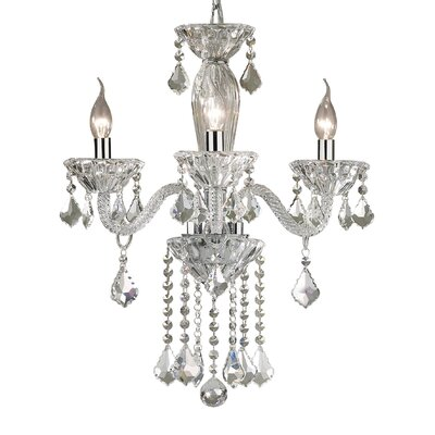 Ideal Lux Tiepolo 3 Light Crystal Chandelier