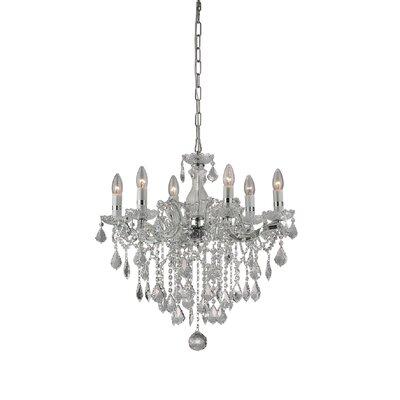Ideal Lux Florian 6 Light CrystalChandelier