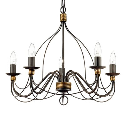 Ideal Lux Corte 5 Light Candle Chandelier