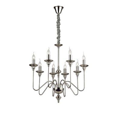 Ideal Lux Artu 8 Light Candle Chandelier