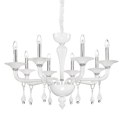 Ideal Lux Miramare 8 Light Candle Chandelier