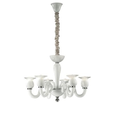 Ideal Lux Teseo 6 Light Candle Chandelier