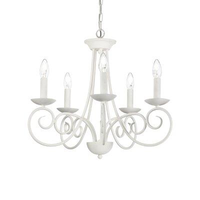 Ideal Lux Sem 5 Light Candle Chandelier